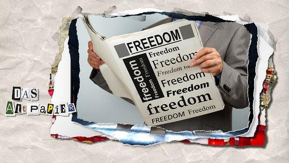 Teasergrafik zum Altpapier vom 12.Oktober 2018: Zeitungen protestieren mit dem Wechsel von Schriftarten für Pressefreiheit