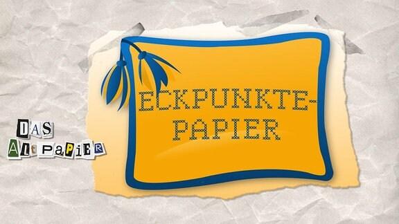 """Teasergrafik zum Altpapier vom 29. Oktober 2018: Kissen mit Stickerei """"Eckpunktepapier"""""""