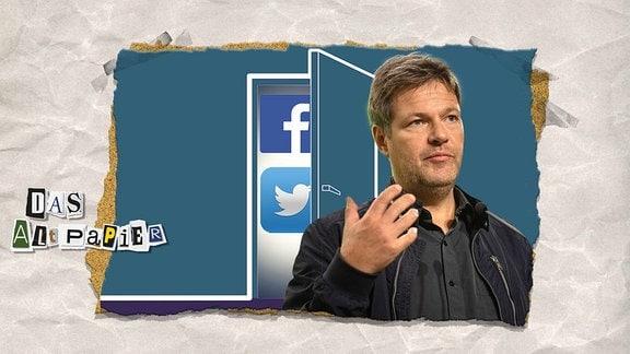 Grünen-Politiker Robert Habeck verlässt Facebook und Twitter