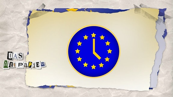 EU-Flagge als Uhr.