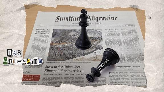 Teasergrafik Altpapier vom 24. Juni 2019: FAZ mit Schachfiguren