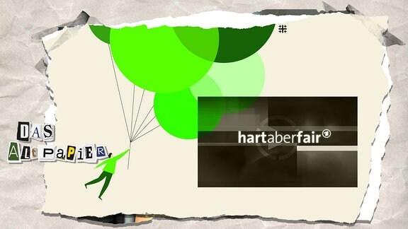 """Teasergrafik Altpapier vom 3. Juli 2019: Logo Evangelischer Kirchentag 2019 und Sendung """"Hart aber Fair"""""""