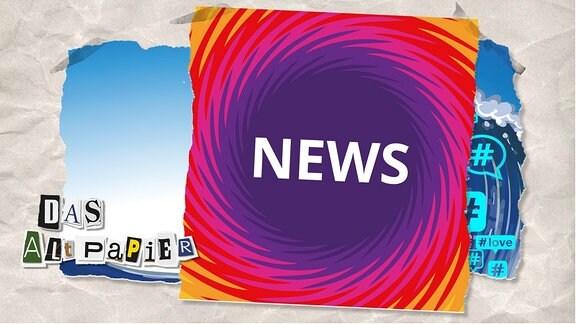 """Teasergrafik Altpapier vom 13. August 2019: Spirale mit Schriftzug """"News"""""""