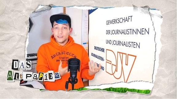 Teasergrafik zum Altpapier vom 21. August 2019: Rezo vor DJV - Banner