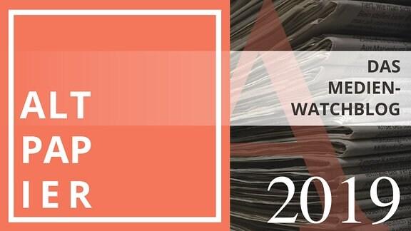 Teasergrafik Altpapier (Banner) für das Jahr 2019.