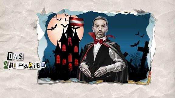 Collage zur Medienkolumne Das Altpapier vom 5. Oktober 2018