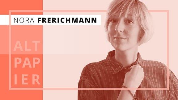 Altpapier-Autor Nora Frerichmann grafisch stilisiert.