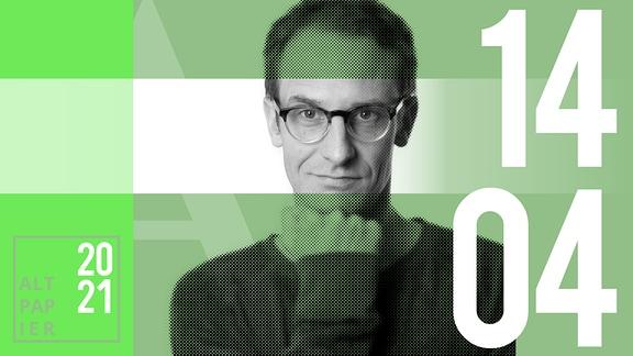 Teasergrafik Altpapier vom 14. April: Porträt Autor Klaus Raab