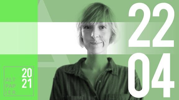 Teasergrafik Altpapier vom 22. April 2021: Porträt Autorin Nora Frerichmann