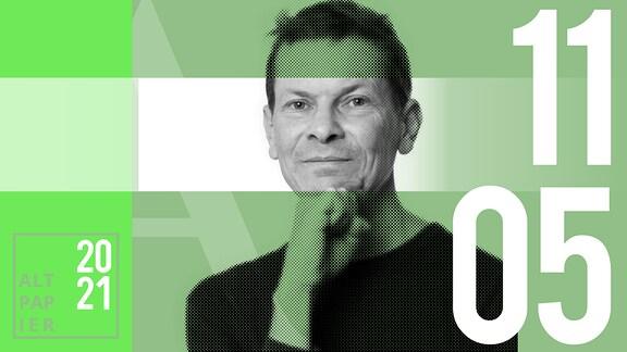 Teasergrafik Altpapier vom 11. Mai 2021: Porträt Autor Christian Bartels