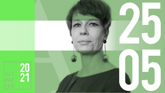 Teasergrafik Altpapier vom 25. Mai 2021: Porträt der Autorin Jenni Zylka