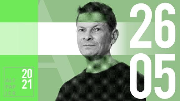 Teasergrafik Altpapier vom 26. Mai 2021: Porträt Autor Christian Bartels