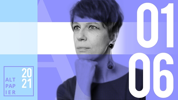 Teasergrafik Altpapier vom 1. Juni 2021: Porträt der Autorin Jenni Zylka