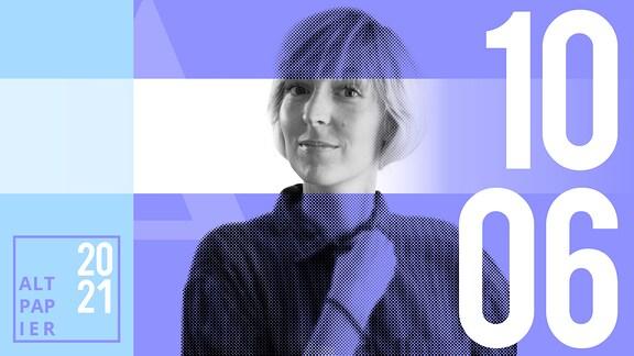 Teasergrafik Altpapier vom 10. Juni 2021: Porträt Autorin Nora Frerichmann