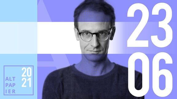 Teasergrafik Altpapier vom 23. Juni 2021: Porträt Autor Klaus Raab