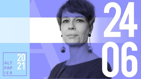 Teasergrafik Altpapier vom 24. Juni 2021: Porträt der Autorin Jenni Zylka