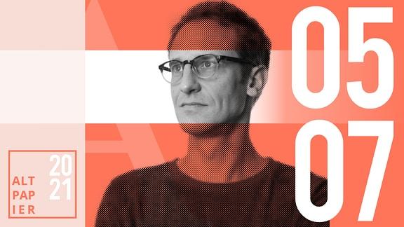 Teasergrafik Altpapier vom 5. Juli 2021: Porträt Autor Klaus Raab