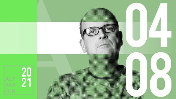 Teasergrafik Altpapier vom 4. August 2021: Porträt Autor René Martens