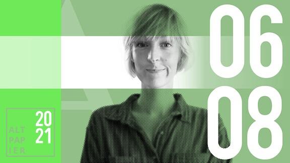 Teasergrafik Altpapier vom 6. August 2021: Porträt Autorin Nora Frerichmann
