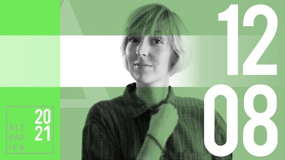 Teasergrafik Altpapier vom 12. August 2021: Porträt Autorin Nora Frerichmann
