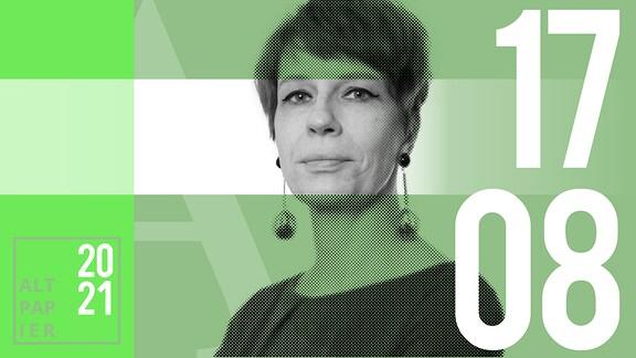 Teasergrafik Altpapier vom 17. August 2021: Porträt der Autorin Jenni Zylka