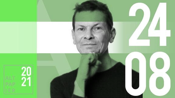 Teasergrafik Altpapier vom 24. August 2021: Porträt Autor Christian Barthels