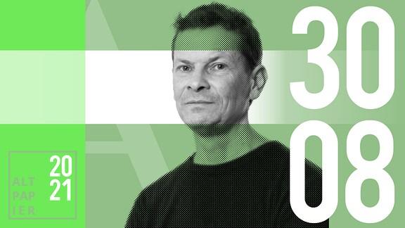 Teasergrafik Altpapier vom 30. August 2021: Porträt Autor Christian Barthels