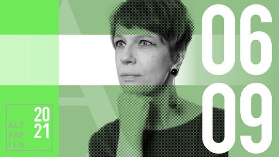 Teasergrafik Altpapier vom 6. September 2021: Porträt der Autorin Jenni Zylka