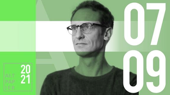Teasergrafik Altpapier vom 7. September 2021: Porträt Autor Klaus Raab