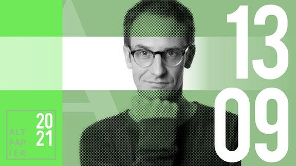 Teasergrafik Altpapier vom 13. September 2021: Porträt Autor Klaus Raab