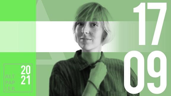 Teasergrafik Altpapier vom 17. September 2021: Porträt Autorin Nora Frerichmann