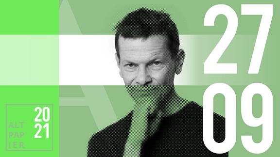 Teasergrafik Altpapier vom 27. September 2021: Porträt Autor Christian Barthels