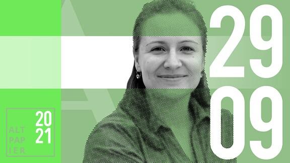 Teasergrafik Altpapier vom 29. September 2021: Porträt Autor Annika Schneider