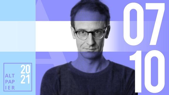 Teasergrafik Altpapier vom 7. Oktober 2021: Porträt Autor Klaus Raab