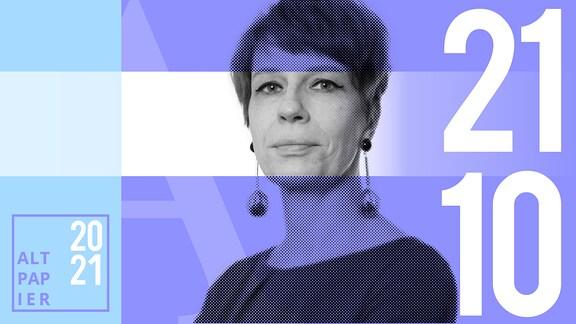 Teasergrafik Altpapier vom 21. Oktober 2021: Porträt Autorin Jenni Zylka