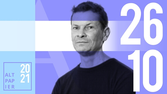 Teasergrafik Altpapier vom 26. Oktober 2021: Porträt Autor Christian Bartels
