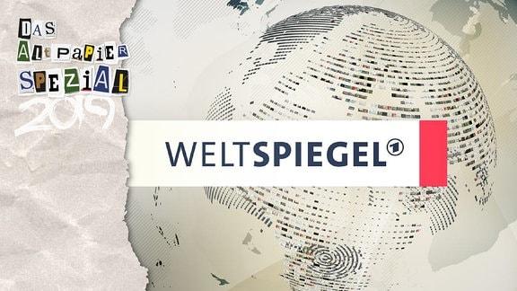 Teasergrafik Altpapier vom 1. Januar 2020: Logo der Sendung Weltspiegel in der ARD