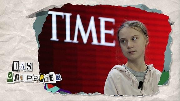 Teasergrafik Altpapier vom 22. Januar 2020: Greta Thunberg, Umweltaktivistin und Schülerin aus Schweden, nimmt vor der Eröffnungssitzung des Weltwirtschaftsforums (WEF) ihren Platz ein.