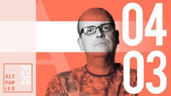 Teasergrafik Altpapier vom 04. März 2020: Porträt Autor René Martens