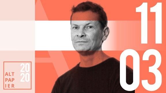 Teasergrafik Altpapier vom 11. März 2020: Porträt Autor Christian Bartels