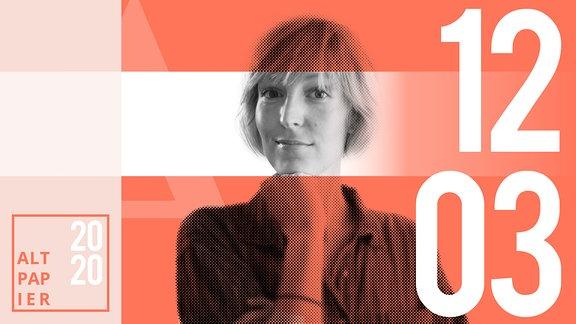 Teasergrafik Altpapier vom 12. März 2020: Porträt Autorin Nora Frerichmann