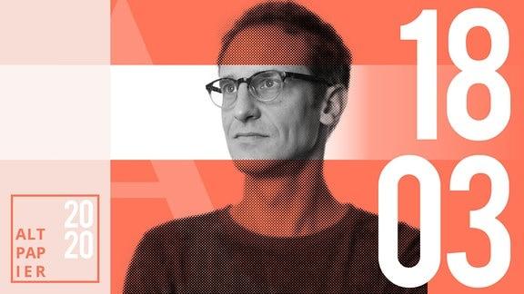 Teasergrafik Altpapier vom 18. März 2020: Porträt Autor Klaus Raab