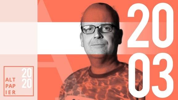 Teasergrafik Altpapier vom 20. März 2020: Porträt Autor René Martens
