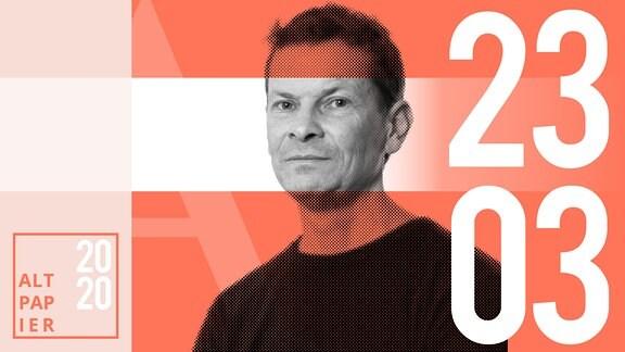 Teasergrafik Altpapier vom 23. März 2020: Porträt Autor Christian Bartels