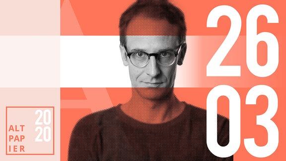 Teasergrafik Altpapier vom 26. März 2020: Porträt Autor Klaus Raab