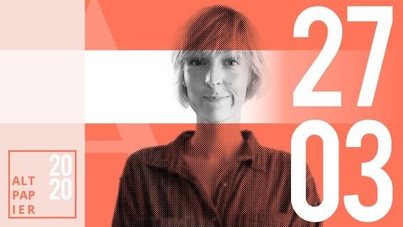 Teasergrafik Altpapier vom 27. März 2020: Porträt Autorin Nora Frerichmann