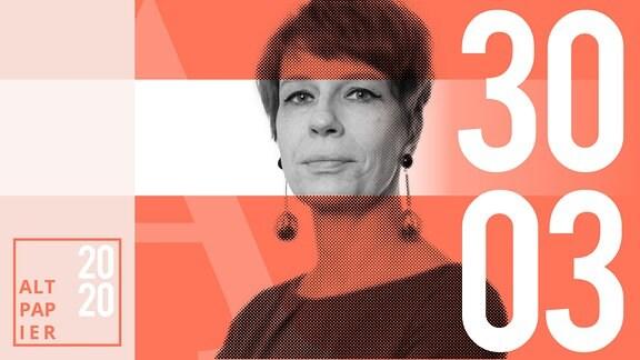 Teasergrafik Altpapier vom 30. März 2020: Porträt Autorin Jenni Zylka