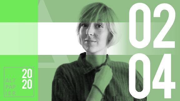 Teasergrafik Altpapier vom 02. April 2020: Porträt Autorin Nora Frerichmann