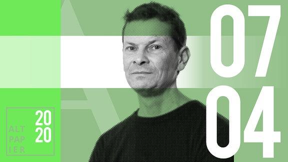 Teasergrafik Altpapier vom 07. April 2020: Porträt Autor Christian Bartels