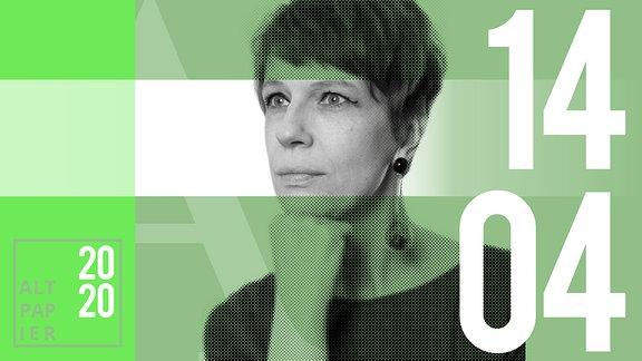 Teasergrafik Altpapier vom 14. April 2020: Porträt Autorin Jenni Zylka